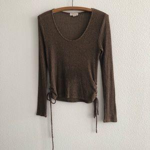 Sun & Shadow Lightweight Side Tie Sweater